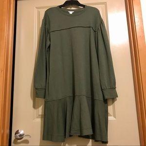 EUC, Caslon, Ruffle Hem, Sweatshirt Dress, XL